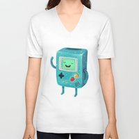 game of thrones V-neck T-shirts featuring Game Beemo by Lime