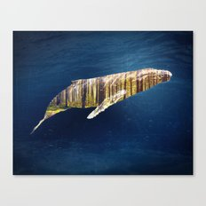 A Whale Dreams of the Forest Canvas Print