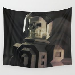 Necronaut low-polygon 3D artwork Wall Tapestry