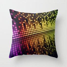 color equalizer Throw Pillow