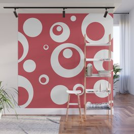 Circles Dots Bubbles :: Berry Blush Wall Mural