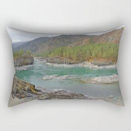 Katun river, Altai mountains, Siberia, Russia Rectangular Pillow