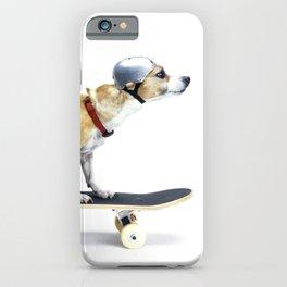 Skate Punk - Skateboarding Chihuahua Dog inTiny Helmet iPhone Case