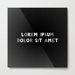 Lorem ipsum dolor sit amet - Thunder Pants Metal Print