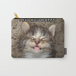 Happy Kitten Carry-All Pouch
