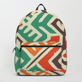 Ancient totem pattern Backpack