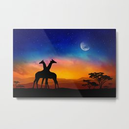 Giraffes Can Dance Metal Print