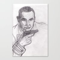 james bond Canvas Prints featuring James Bond by jamestomgray