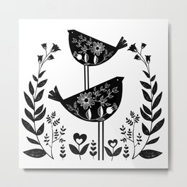 Danish Birds Of Good Luck And Good Life Metal Print