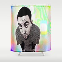 mac Shower Curtains featuring Mac Miller by Enna