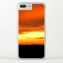 Sunset Over The Fields Clear iPhone Case