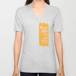 Proud Lefty product Funny Left Handed Some Elbow Room Gift Unisex V-Neck