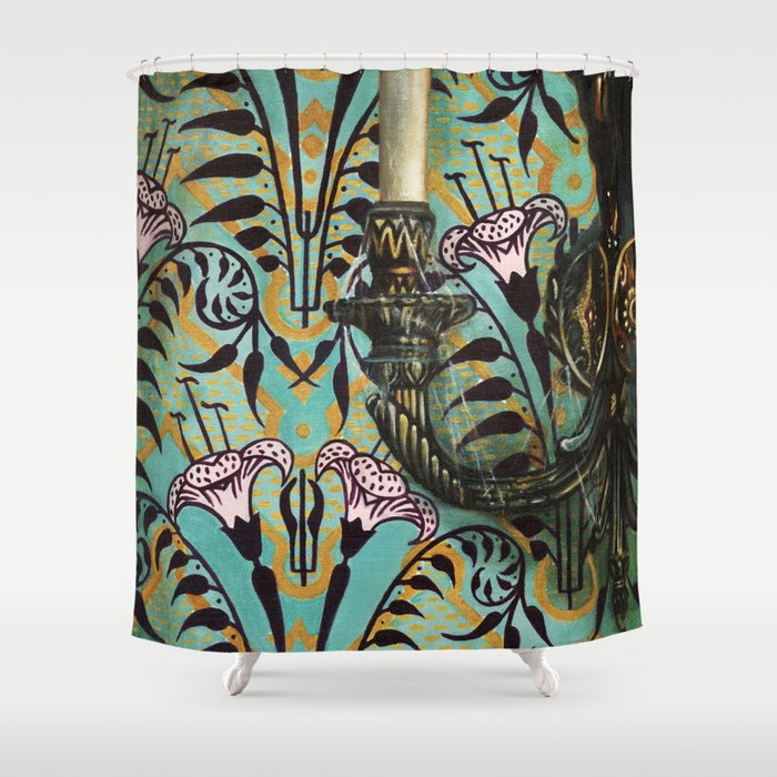 Disneyland Haunted Mansion Inspired Wall To Creeps No1 Shower Curtain