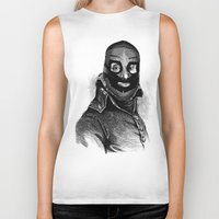 wrestling Biker Tanks featuring Wrestling mask 3 by DIVIDUS DESIGN STUDIO