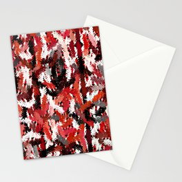 Black, White and Red Tapestry Stationery Cards