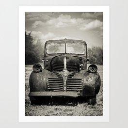 Vintage Black Truck Art Print