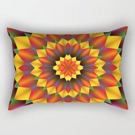 Abstract colorful flowers Mandala Rectangular Pillow