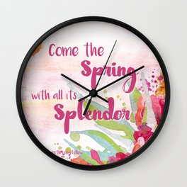 Come the Spring Longfellow Wall Clock