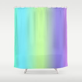 Spring - Pastel - Easter Greens Blues and Purple Vertical Stripes Gradient Shower Curtain