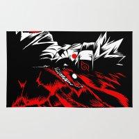 naruto Area & Throw Rugs featuring Naruto by offbeatzombie