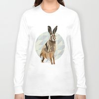 hare Long Sleeve T-shirts featuring Hare by Giulia Zerbini