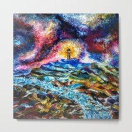 Lighthouse Landscape Metal Print