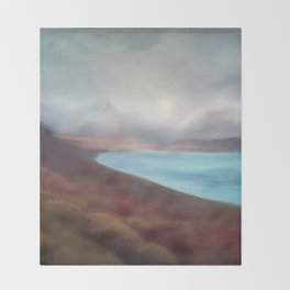 Minimal abstract landscape IV Throw Blanket