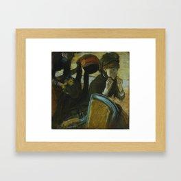 At the Milliner's Framed Art Print