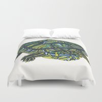 turtle Duvet Covers featuring Turtle by Aina Serratosa