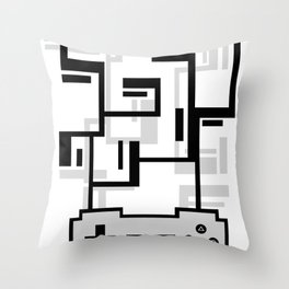 8-BIT JOYSTICK (GREY) Throw Pillow