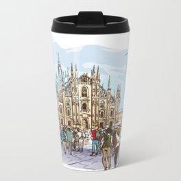 Sketches from Italy - Milan 02 Metal Travel Mug