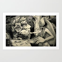 THE BEAST AND PITCHER  Art Print
