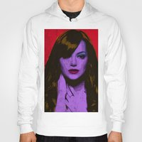emma stone Hoodies featuring Emma Stone by Bolin Cradley Art