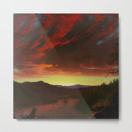 "Frederic Edwin Church ""Twilight in the Wilderness"" Metal Print"