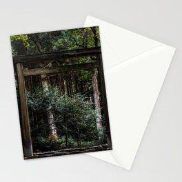 Torii in the forest (japan) Stationery Cards