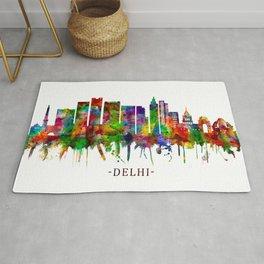 Delhi India Skyline Rug