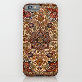 Persia Tabriz 19th Century Authentic Colorful Blue Red Yellow Vintage Patterns iPhone Case