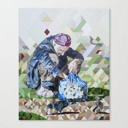 Las Palomas Hambrientas, The hungry doves Canvas Print