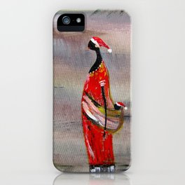 Merry Christmas. Funny image iPhone Case