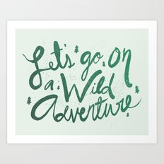 Wild Adventure Type Art Print