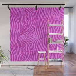 Light Pink Glitter Zebra Print Wall Mural