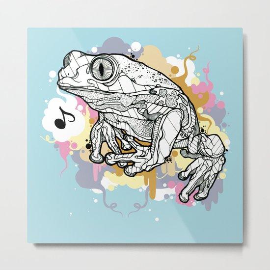 Melodic Frog Metal Print