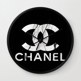 Couture Fashion Designer Inspired Marble Typography Wall Clock