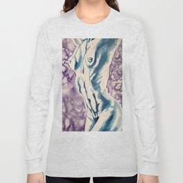 Stretching Nude Long Sleeve T-shirt