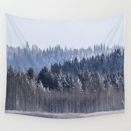 Blue shades in cold winter morning Wall Tapestry