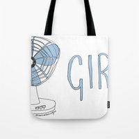 fangirl Tote Bags featuring FANGIRL. by Rosianna