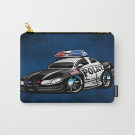 Police Muscle Car Cartoon Illustration Carry-All Pouch