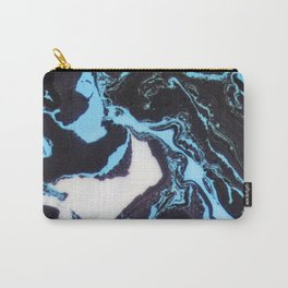 Blue agate abstract marble Carry-All Pouch