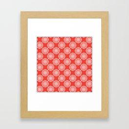 Kitchen cutlery red Framed Art Print