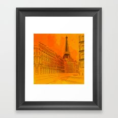Parisian Sunsets Framed Art Print